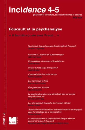 Incidence 4-5, Foucault et la psychanalyse