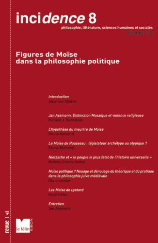 Incidence 8, Figures de Moïse dans la philosophie politique