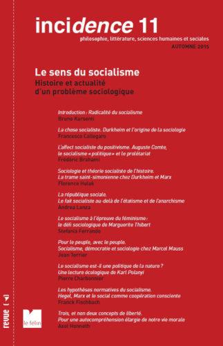 Incidence 11, Le sens du socialisme